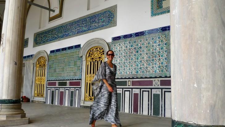 Daniela Federici at the Topkapi Haram