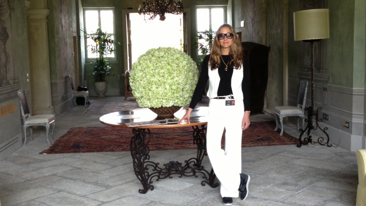 Daniela Federici in Hotel Bauer, Venice, Italy during the Venice Biennial