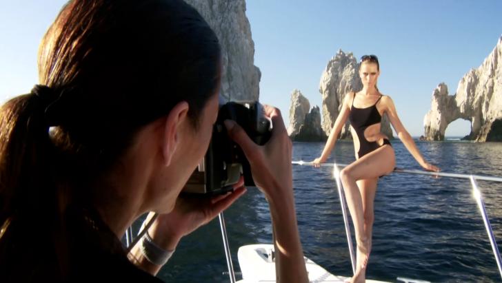 Daniela Federici shooting Zeki Swimwear in Cabo Mexico